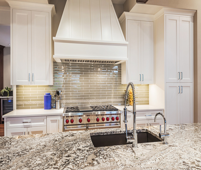 glass sink mount backsplash we under tile contrasting cabinets ebony installed kitchen countertop countertops with mosaic for island pin quartz